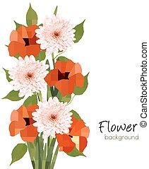 Flower summer background. Vector.