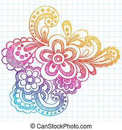 Flower Summer Doodle Vector Design