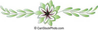 Flower symbol logo