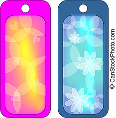 Flower tags or labels - vector