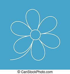 Flower thin line icon