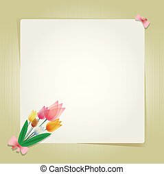 Flower tulip card or background.