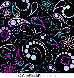 Flower and design elements vector background