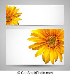 Flower vector background templates