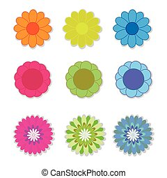 Flower vector on white background