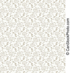 Flower vector seamless background