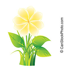 yellow flower over vintage background. vector