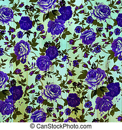 Flower vintage from fabric on wooden wall background.