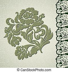 Flower vintage lace