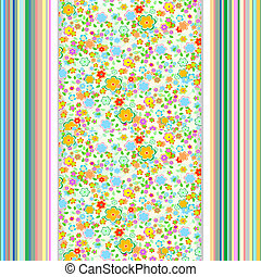 flower wallpaper. retro vintage background, seamless pattern