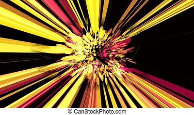 Flower Warp - A motion graphic animation with abstract...