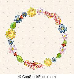 Flower watercolor card