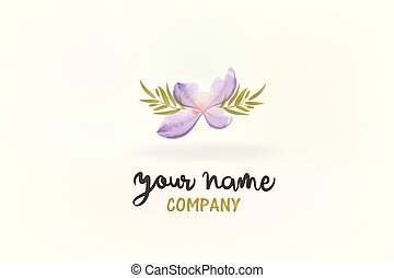 Flower watercolor logo
