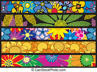 Flower Web Banners
