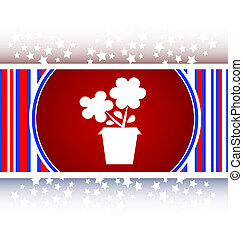 Flower web buttons for website or app