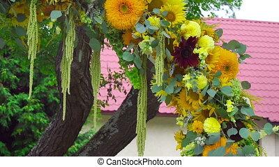 Flower wedding arch decoration