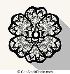flower with mandala boho style
