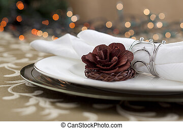 flower with table napkin