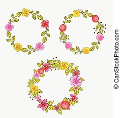 Flower Wreath Design