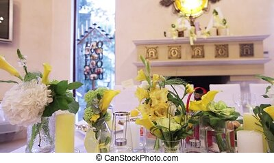 Flower yellow table decoration