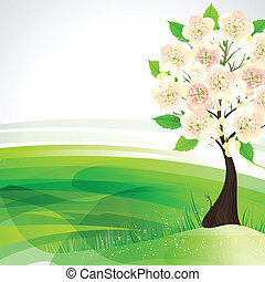 flowering tree - Season flowering tree on the hill
