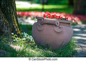 Flowerpot in the Park