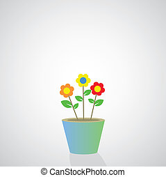 flowerpot vector cartoon
