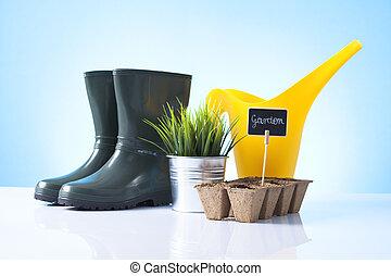 flowerpots.boots, 道具, 庭