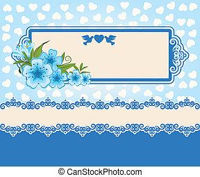 flowers., レース, 装飾