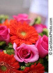 flowers 3 - pink and orange flower arrangement