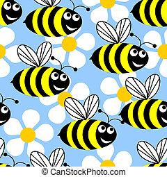 flowers., abejas