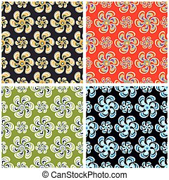 Flowers abstract background collection of vector illustration