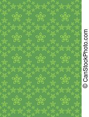 Flowers abstract green background