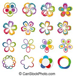 Flowers. Abstract Logo design