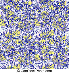 Flowers abstract seamless pattern