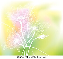 flowers., acquarello