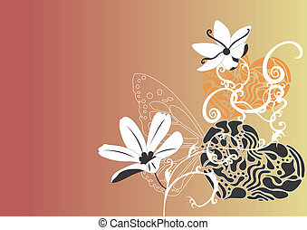 Flowers - An illustration of a floral background