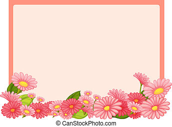 Flowers and a pink board