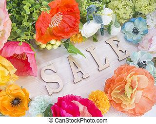 Flowers and alphabet blocks SALE