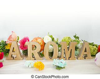 Flowers and alphabet blocks SPRING