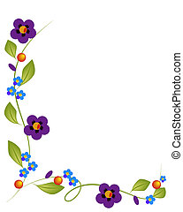 Flowers and background 1