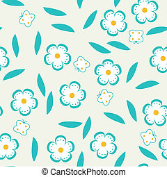 Flowers and butterflies pattern