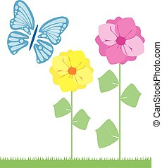 flowers and butterfly 3
