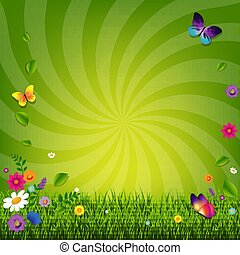 Flowers And Grass