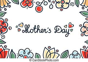 Greeting card mother's day
