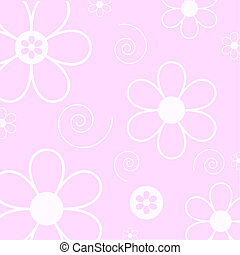 Flowers and swirls - Flowers and swirl background