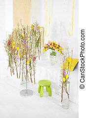 Flowers art festive vernal background. Studio shot