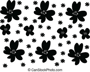 Flowers background - vector