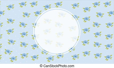 Flowers background, Video animation