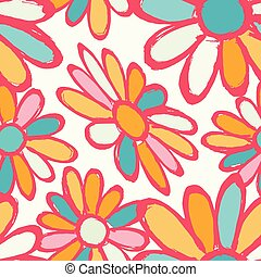 flowers beautiful seamless pattern